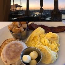 Marina Breakfast, and the pre-7am Marina view