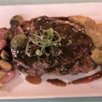 Prime beef ribeye with potatoes